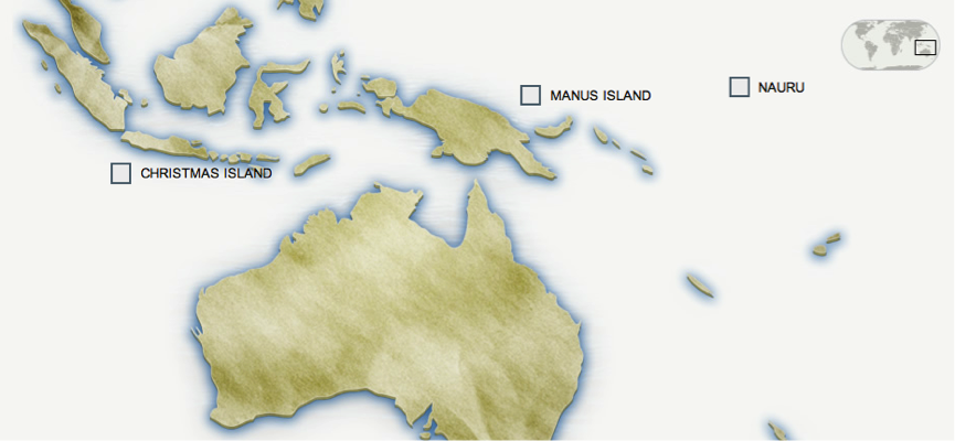 HRAS Case Study The Push Back Situation in Australia Operation – Map of Christmas Island and Australia
