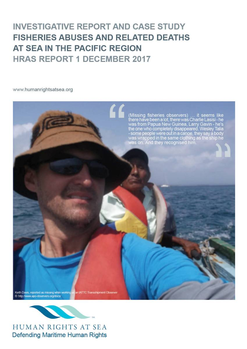 REPORT: Fisheries abuses and related observer deaths in the Pacific region